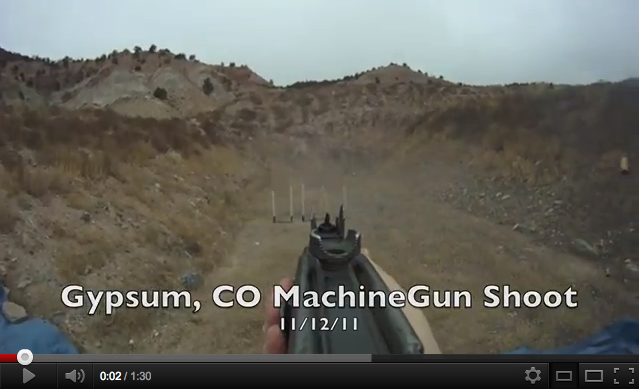 Gypsum, CO MachineGun shoot POV